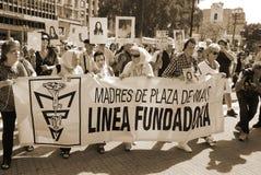 Die Mütter des Plaza de Mayo Stockbild