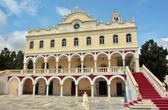 Die Madonna-Kirche in Tinos-Insel lizenzfreies stockbild