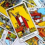 Die Magie-Steuerung Magier-Tarot Card Powers Intelect stock abbildung
