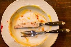 Die Mahlzeit ist vorbei Stockbilder