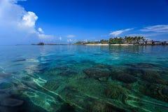 Die majestätische Insel von Semporna stockfotos