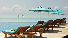 Die Malediven-Strandansicht lizenzfreie stockfotos