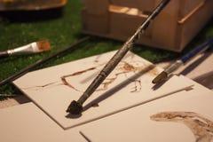 Die Maler ` s Werkzeuge Stockfotos
