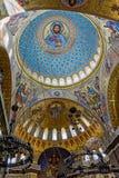 Die Malerei auf der Haube der Marinekathedrale des Heiligen Nichola Lizenzfreie Stockfotos