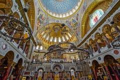 Die Malerei auf der Haube der Marinekathedrale des Heiligen Nichola Stockfotos