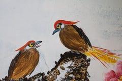 Die Malerei des Vogels Lizenzfreies Stockfoto