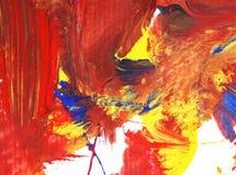 Die Malereikünste, die auf Papierhintergrund acrylsauer sind, extrahieren Beschaffenheit Lizenzfreie Stockfotografie