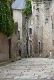 Die malerische Straße in alter Stadt Blois. Stockfoto