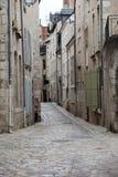 Die malerische Straße in alter Stadt Blois Stockfoto