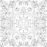 Die Mandalamalerei Lizenzfreies Stockfoto