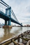 Die Manhattan-Brücke stockfoto