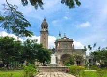 Die Manila-Kathedrale, Intramuros alte Stadt Manila lizenzfreies stockfoto
