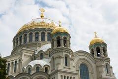 Die Marinekathedrale von Sankt Nikolaus in Kronstadt Stockbild