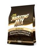 Die Marketing-Mischung - die vier P Stockfotografie