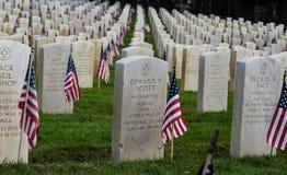 Die Markierungen des Veterans Stockbilder