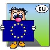 Die Markierungsfahne der Europäischen Gemeinschaft Lizenzfreie Stockfotos