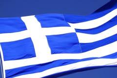 Die Markierungsfahne von Griechenland Stockfoto