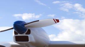 Die Maschine auf dem Flügel der Fläche Stockfoto