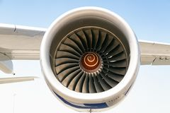 Die Maschine der Fläche auf dem Flügel, Turbine lizenzfreie stockfotografie