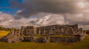 Die Mayaruinen in Tulum, Maya Mexikos, Riviera, Yucatan Tulum war eine der letzten Städte, die vom Maya errichtet wurden und bewo Lizenzfreie Stockbilder