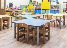 Die Möbel und die Spielwaren der Kinder Stockfotos