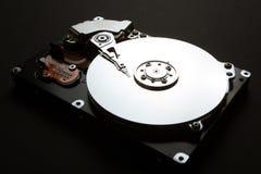 Die mechanischen Teile des Festplattenlaufwerks des Servers, Datenverschlüsselung lizenzfreie abbildung