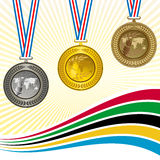 Die Medaillen Stockfoto