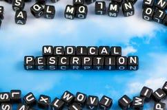 Die medizinische Verordnung des Wortes Lizenzfreies Stockfoto