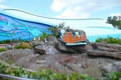 Die Meere mit Nemo und Freunden reißen Zeichen hin stockfotos