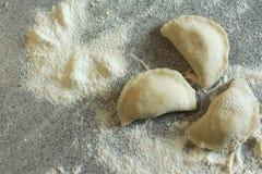 Die Mehlklöße gemacht mit Liebe Stockbild