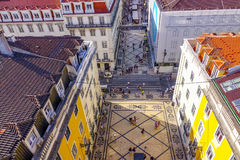 Die meiste berühmte Straße in Lissabon - Augusta Street - Das LISSABON - Das PORTUGAL - 17. Juni 2017 Lizenzfreie Stockbilder
