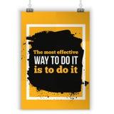 Die meiste effektive Art, sie zu tun Motivierung, positives Zitat Plakat für Wand Größe A4 einfach zu redigieren vektor abbildung