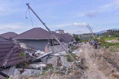 Die meiste schwere Schaden-Erdbeben-Verflüssigung Petobo zentrales Sulawesi lizenzfreie stockfotos