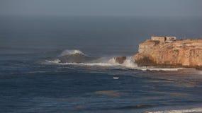 Die meisten Riesenwellen Nazaré - Portugal Lizenzfreies Stockbild