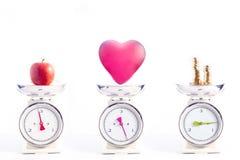 Die meisten wichtigen Dinge im Leben: Gesundheit, Liebe und Geld Lizenzfreie Stockfotos