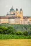 Die Melk-Abtei im Wachau-Tal Lizenzfreies Stockbild