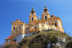 Die Melk Abtei von unterhalb, Wachau Region, Österreich Lizenzfreie Stockfotografie