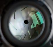 Die Membran eines Kameraobjektivs. Lizenzfreie Stockfotos
