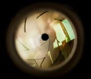 Die Membran eines Kameraobjektivs Lizenzfreie Stockfotografie