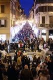 Die Menge in der Mitte von Rom Lizenzfreies Stockfoto