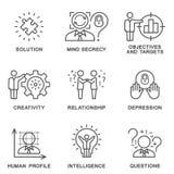 Die menschliche Persönlichkeitspsychologie der Sammlungsikonen lizenzfreie stockbilder
