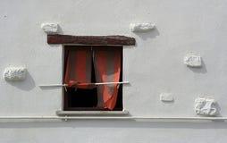 Die merkwürdigen Fenster Stockbild