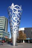 Die Messkelch-Skulptur im Kathedralen-Quadrat Christchurch Lizenzfreie Stockfotografie