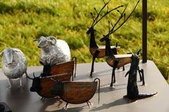 Die Metalltiere Lizenzfreie Stockbilder