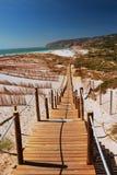 Die Methode zum Strand Lizenzfreie Stockfotografie