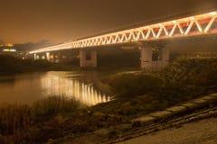 Die Metrobrücke in Nischni Nowgorod Lizenzfreies Stockbild