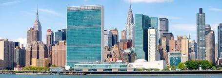 Die Midtown Manhattan Skyline lizenzfreies stockbild