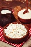 Die Milchprodukte stockfotos