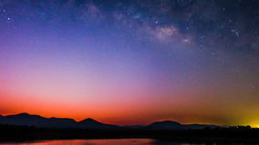 Die Milchstraße farbenreich Stockfoto