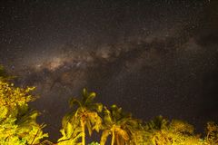 Die Milchstraße und der südliche Himmel, Fidschi stockfoto